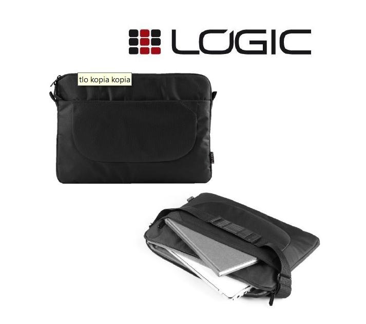 """Modecom Logic obal BASE 15 pro notebooky do velikosti 15,6"""", 2 kapsy, černý"""