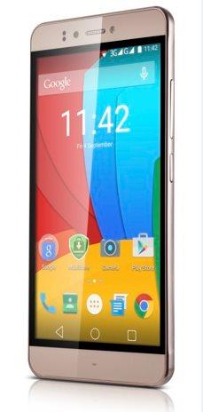 """PRESTIGIO Muze D3, 5.3"""" HD IPS, Dual SIM, Android 5.0, Quad Core 1,3GHz, 1280*720, 8GB ROM,1GB RAM, 13Mpx, zlatý"""