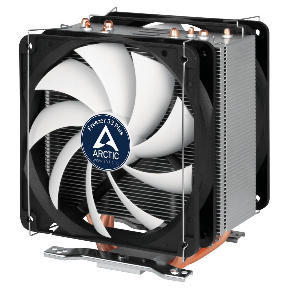 ARCTIC Freezer 33 PLUS, CPU Cooler for Intel Socket 2011(-v3)/1150/1151/1155/1156 & AMD socket AM4, direct touch