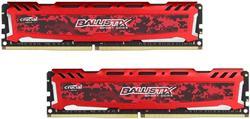 Crucial DDR4 16GB (Kit 2x8GB) Ballistix Sport LT DIMM 2400MHz CL16 DR x8 červená