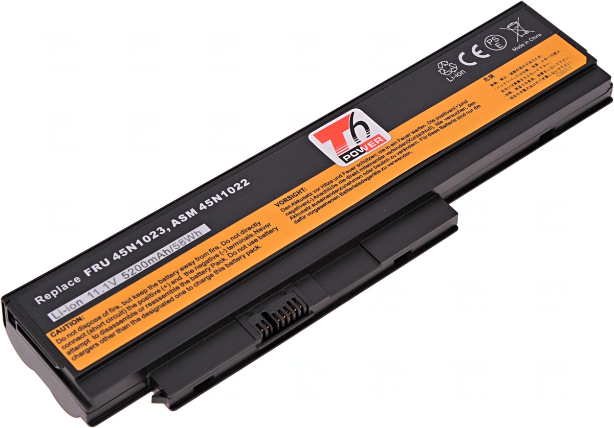 Baterie T6 power Lenovo ThinkPad X230, X230i, 44+, 6cell, 5200mAh