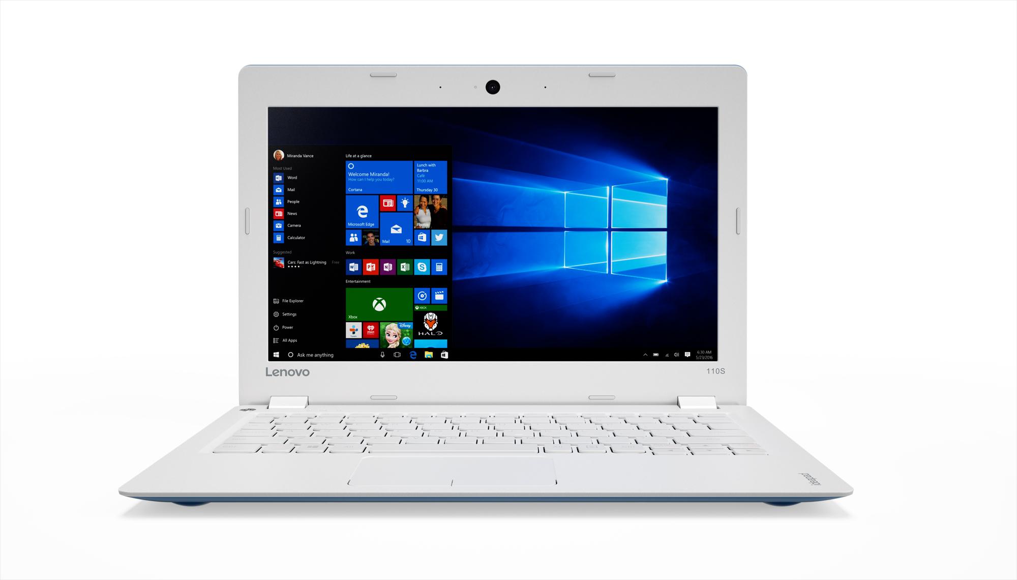 """Lenovo IdeaPad 110S-11IBR Celeron N3060 2,48GHz/2GB/32GB eMMC/11,6"""" HD/AG/WIN10 modrá 80WG008DCK"""