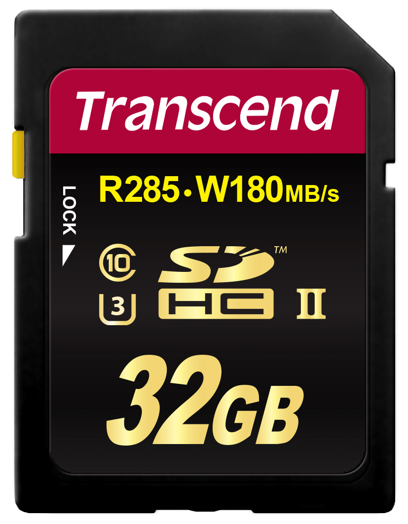 Transcend memory card SDHC 32GB, Class3 UHS-II, (R285, W180MB/s)