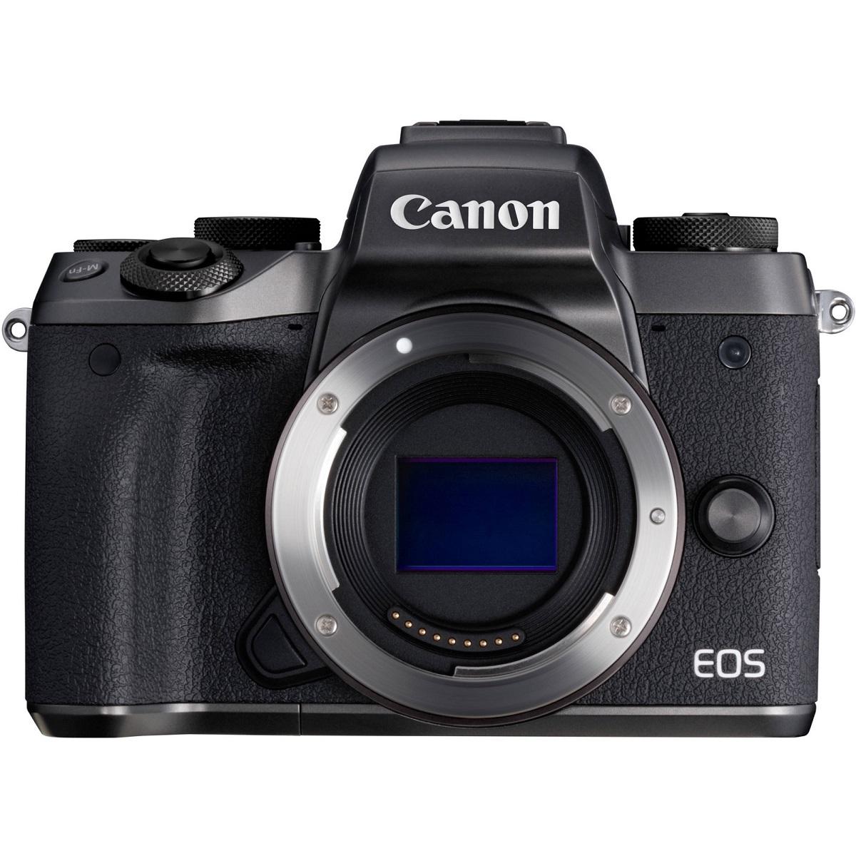 Canon EOS M5 Black + EF-M 18-150mm , bez adaptéru + 8GBkarta + čistící hadřík