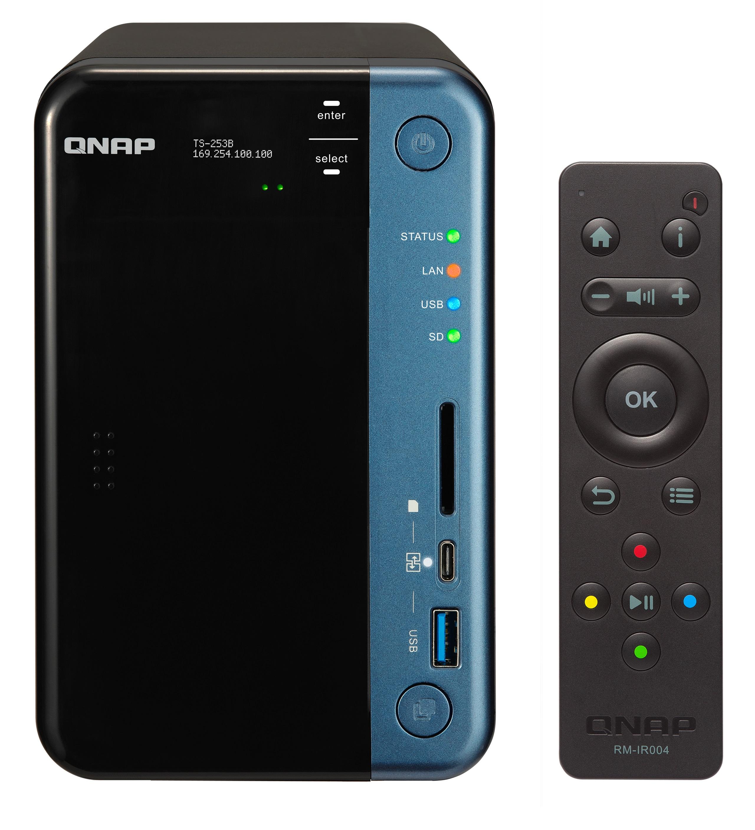 QNAP TS-253B-8G (1,5Ghz/8GB RAM/2xSATA/2xHDMI)