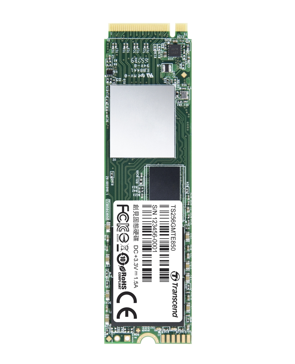 TRANSCEND MTE850 256GB SSD disk M.2 2280, PCIe Gen3 x4 NVMe 1.2 (3D MLC)