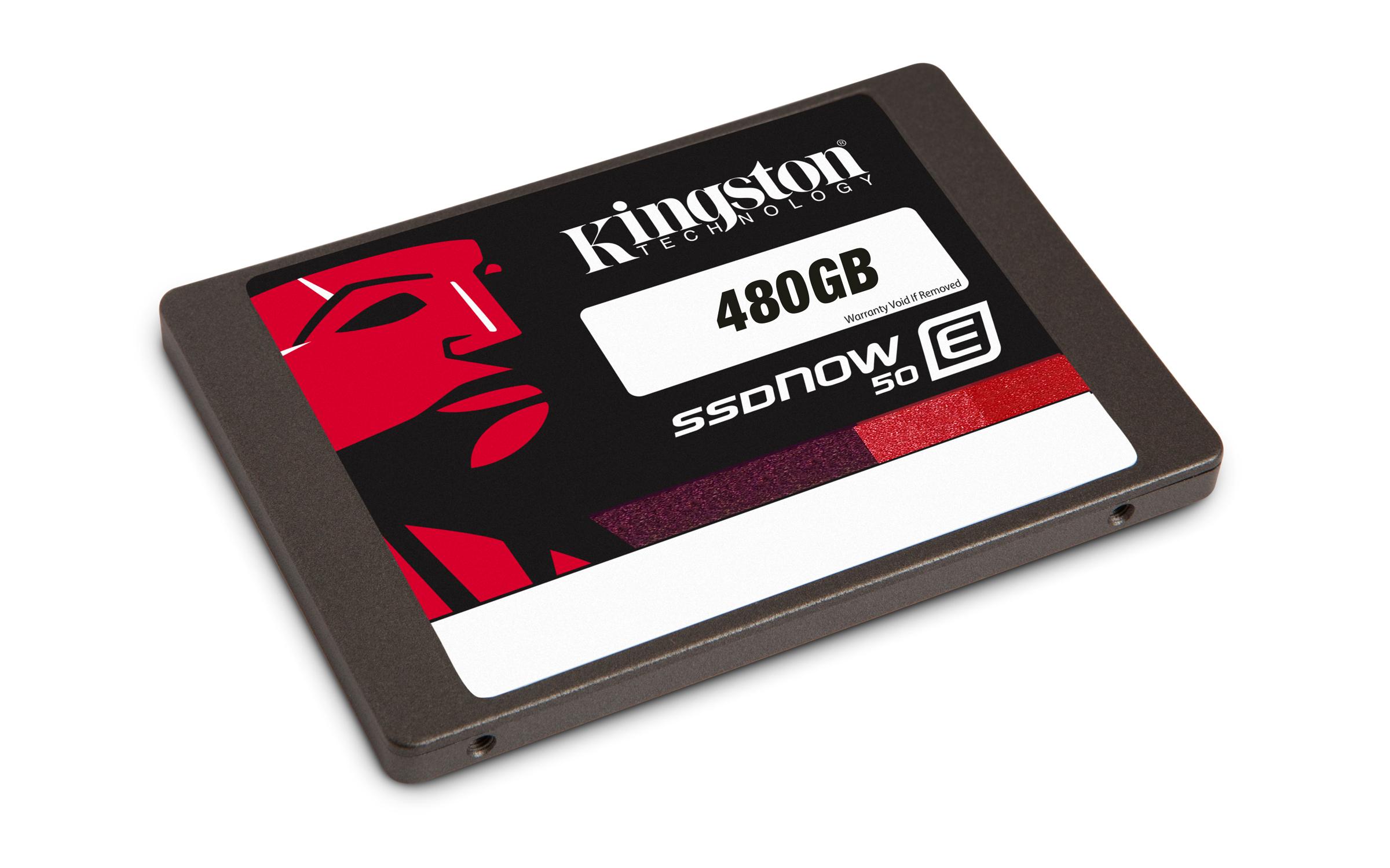 Kingston Flash SSD 480GB SSDNow E50 SSD SATA 3 2.5 Enterprise