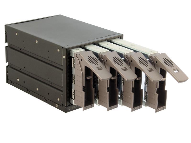 Chieftec SST-3141SAS 3x5.25inch bays pro 4 SAS or SATA HDDs, Hot-Swap, hliník