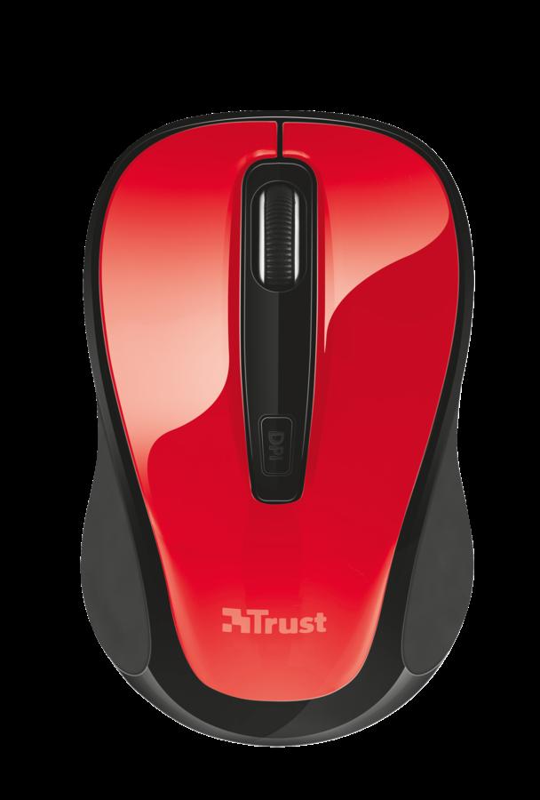 Trust XANI optická bluetooth myš - červená