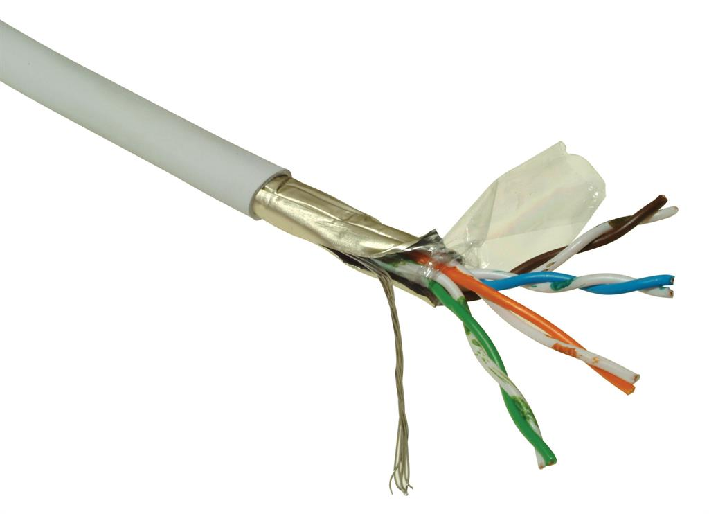 Kabel licna Solarix CAT5E FTP PVC šedý 305m/box