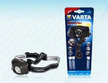 VARTA Indestructible 1W LED Head Light outdoor čelovka, 100m + 3xAAA baterie