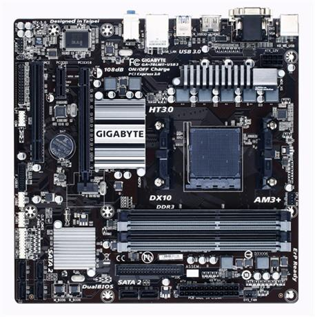 Gigabyte GA-78LMT-USB3, 760G, DualDDR3-1066, SATA2, GBLAN, D-SUB, mATX