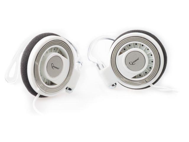 Gembird MP3 stereo sluchátka, 3.5mm Jack, bílé, CLIP ON, 1.8m