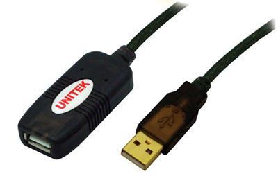 Unitek prodlužovací kabel USB 2.0 10m, aktivní