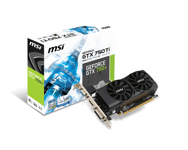 MSI GeForce GTX 750 Ti, 2GB GDDR5 (128 Bit), HDMI, DVI, D-Sub