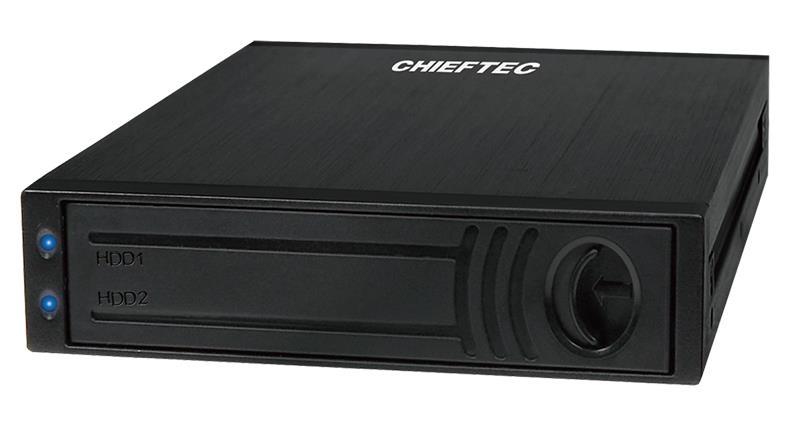 Chieftec ATM-1322S-RD 1x3.5inch bay pro 2x2.5inch SATA HDD, Hot-Swap, hliník