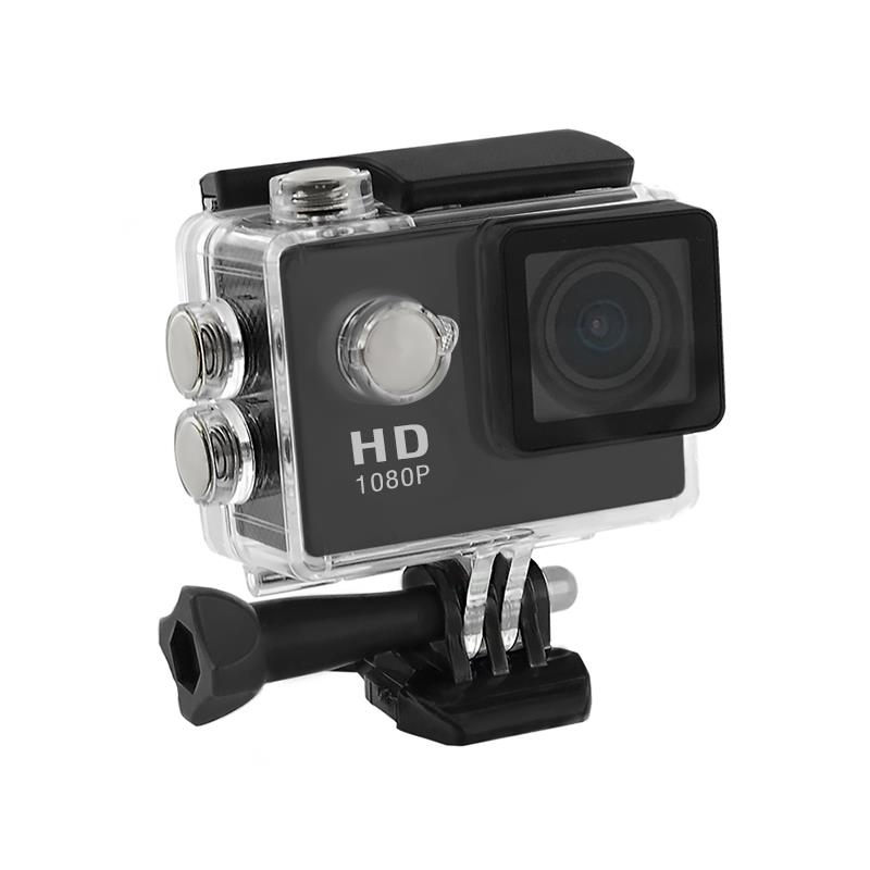 2.0'' Waterproof Sports Camera Full HD QOLTEC for helmet/bike/car | Black