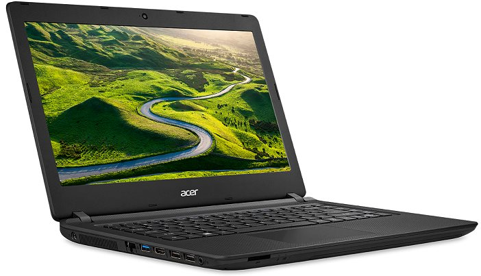 "Acer Aspire ES 14 (ES1-432-C306) Celeron N3350/4GB+N/A/32GB eMMC+N/A/HD Graphics/14"" HD(1366x768) lesklý/W10 Home/Black"