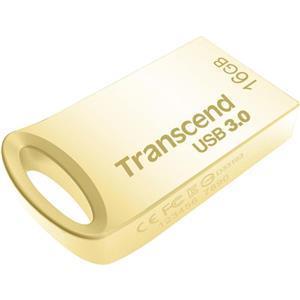 Transcend JetFlash 710 flashdisk 16GB, USB 3.0, pozlacený