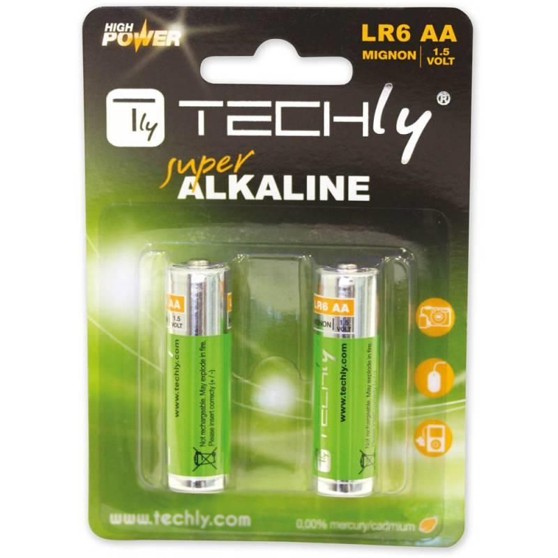 Techly alkalické baterie 1.5V AA LR6 2 ks