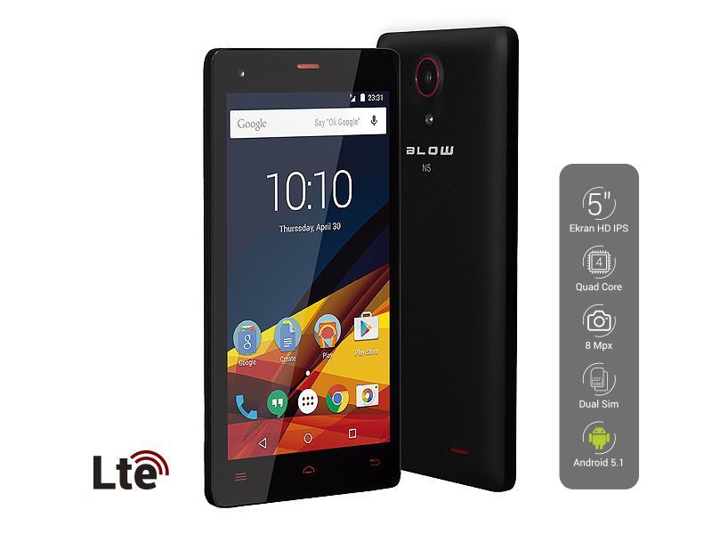 Smartphone BLOW N5 LTE, Dual SIM