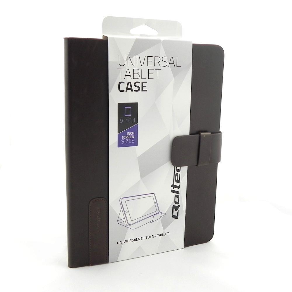 Qoltec High Effective Protection pouzdro pro tablet 9-10.1'', tmavě hnědé