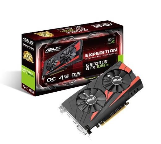 ASUS Expedition GeForce GTX 1050 Ti, 4GB GDDR5