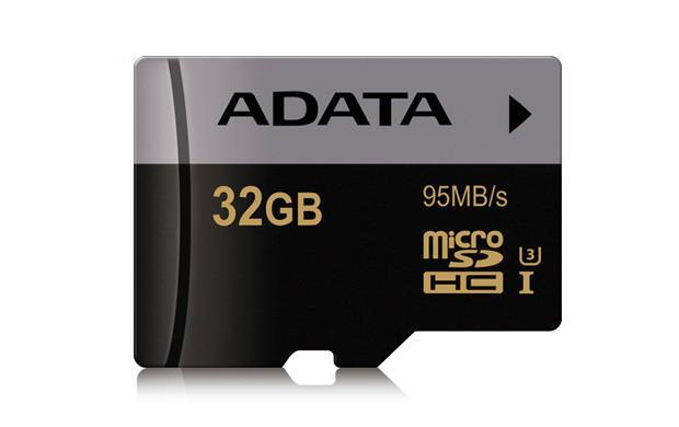 ADATA MicroSDHC 32GB U3 95MB/s + adapter