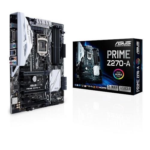ASUS PRIME Z270-A, Z270, LGA1151, ATX, 4xDDR4, HDMI/DP/DVI
