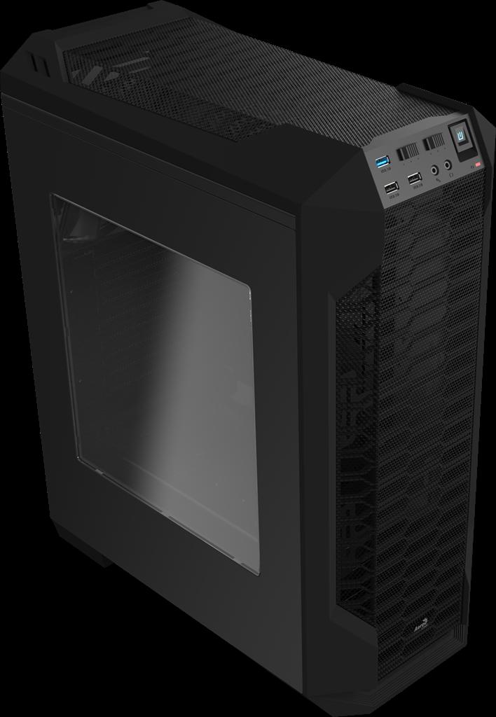 PC skříň Aerocool ATX LS 5200 BLACK, USB 3.0, bez zdroje