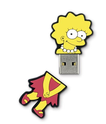 INTEGRAL The Simpsons, Lisa 8GB USB 2.0 flashdisk, pogumovaný silikon
