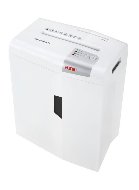 HSM Shredstar X10 - cross cut 4,5x35mm/ 10 sheets 80 g/ 20 l bin/ DIN 3