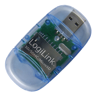 LOGILINK - Čtečka karet SD/MMC USB 2.0 Stick