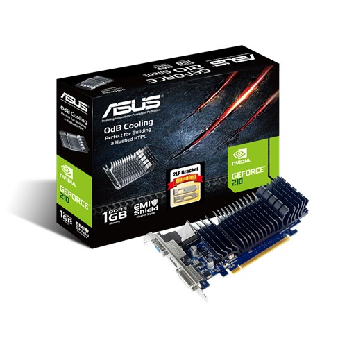 ASUS GeForce GT 210, 1GB DDR3 (64 Bit), HDMI, DVI, D-Sub