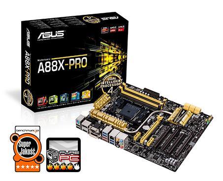 ASUS A88X-PRO, A88X Bolton D4, DualDDR3-2133, SATA3, HDMI, DVI, RAID, DP, ATX