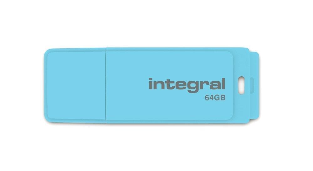 INTEGRAL Pastel 64GB USB 2.0 flashdisk, Blue Sky