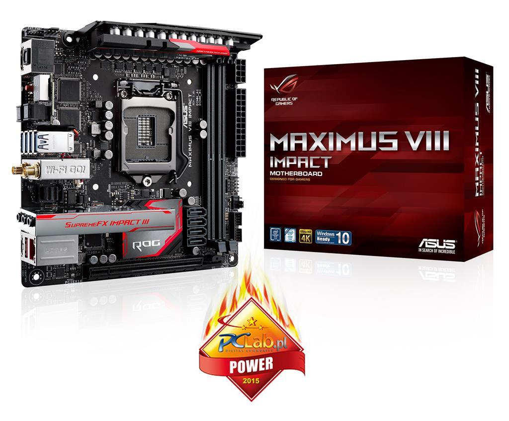 ASUS MAXIMUS VIII IMPACT, Z170, DualDDR4-2133, SATA3, HDMI, USB 3.1, mITX