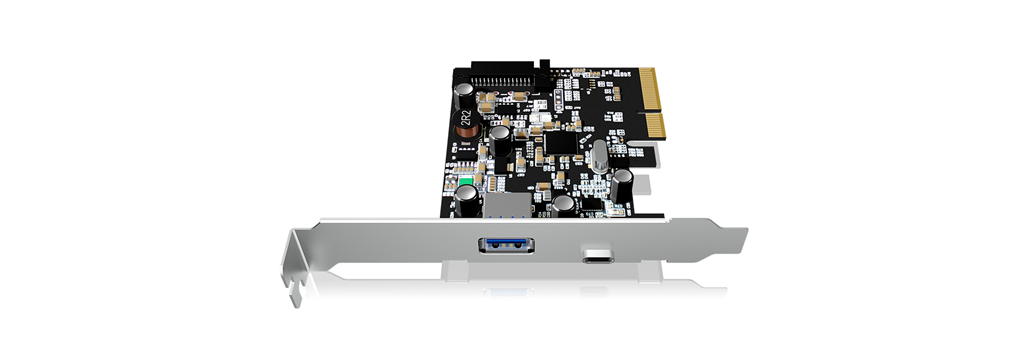 Icy Box USB 3.1 PCI-E expansion card with 1x Type-C and 1x Type-A interface