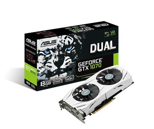 ASUS Dual GeForce GTX 1070, 8GB GDDR5, PCI Express 3.0