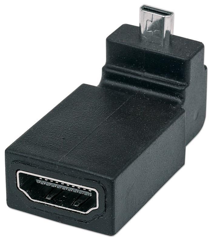 Manhattan redukce HDMI, HDMI micro D <--> HDMI A, M/F, zahnutý nahoru 90°