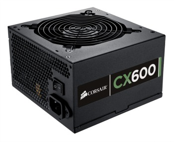 Corsair zdroj 600W CX Series CX600, 80 PLUS Bronze, 120mm ventilátor