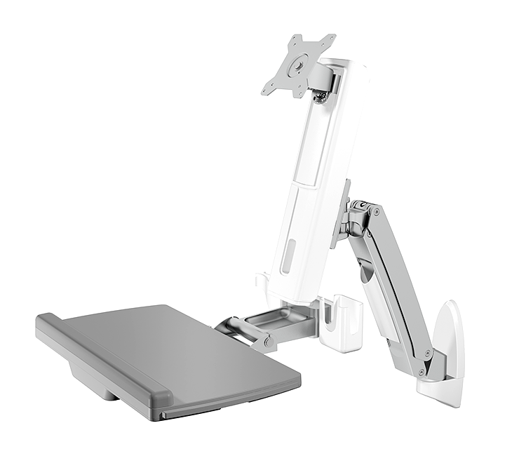 IcyBox Wall mount for display up to 24'' (61cm) with mouse and keybord workspace