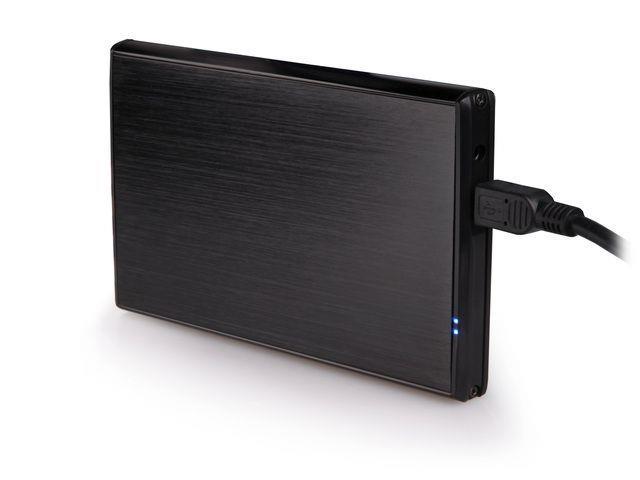 Natec RHINO Externí box pro 2.5'' SATA HDD/SSD, USB 2.0, hliníkový, černý