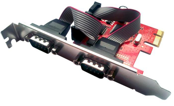 Unitek Y-7504 řadič PCI-E, 2x RS-232