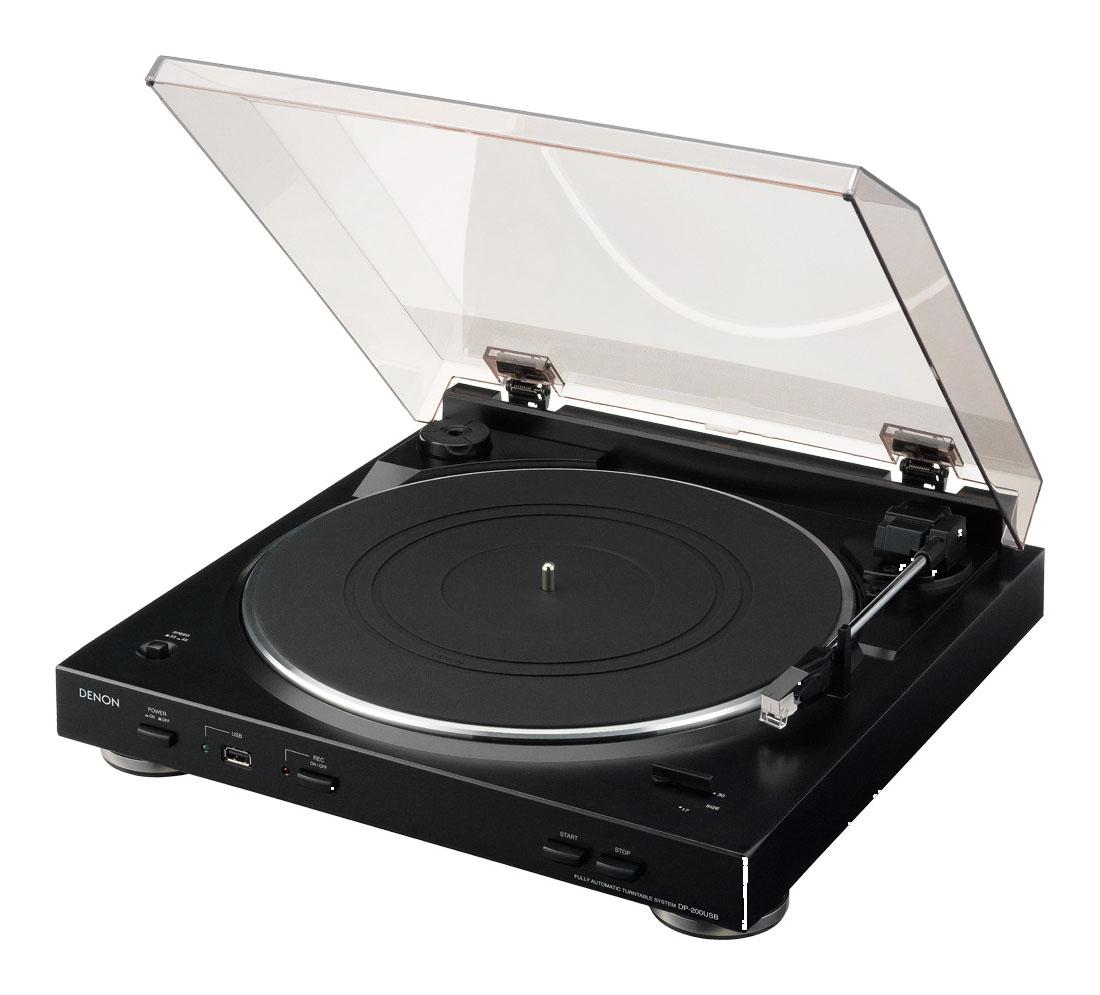 Gramofon Denon DP-200 USB černý