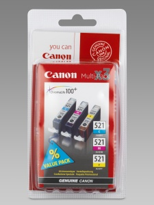 Canon pack CLI-521 C/M/Y