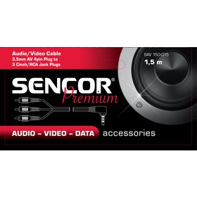 Konektor Sencor SAV 150-015 3,5jack - 3xRCA M P