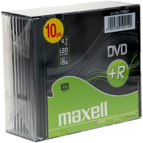 DVD+R 16X 10PK 5MM 275631 MAXELL