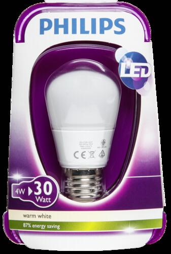 Žárovka Philips LED kapka E27 4W, matná, teple bílá