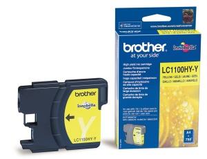 Inkoustová náplň Brother žlutá LC1100HYY 750str.
